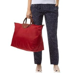 Longchamp Red Large Duffle Tote